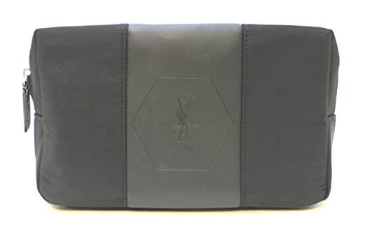 3240a9a015f YSL - Yves Saint Laurent parfums blac pouch / toiletry / wash bag for men *  new: Amazon.co.uk: Luggage