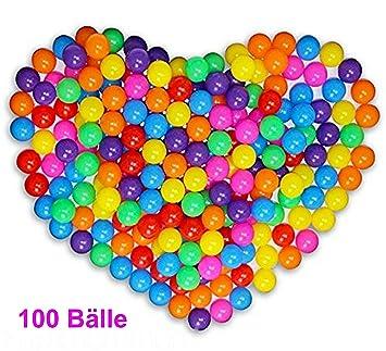 günstig kaufen LCP Kids Kinder Spielbälle für Bällebad und Spiel Bunte 100 stk