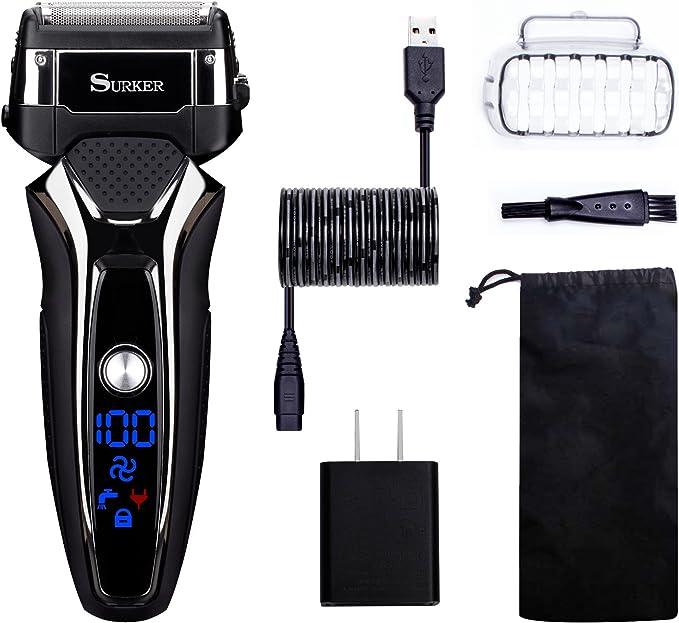 Afeitadora Para Electrica Para Hombres Uso En Humedo Y Seco Carga Con USB BaterÍA De Litio: Amazon.es: Salud y cuidado personal