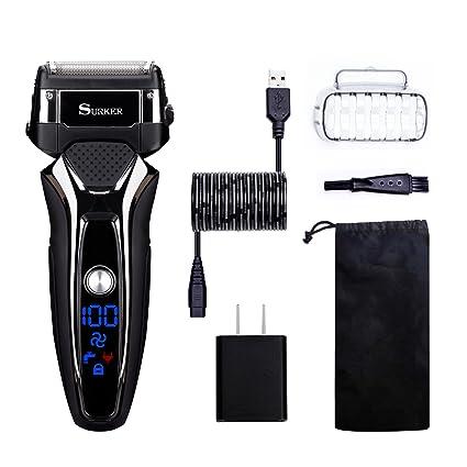 Afeitadora Para Electrica Para Hombres Uso En Humedo Y Seco Carga Con USB BaterÍA De Litio