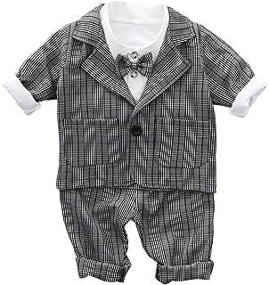 4d783fab9b625 C-Princess ベビー服 スーツ ジャケット シャツ ズボン 3点セット 蝶ネクタイ タキシード 紳士服
