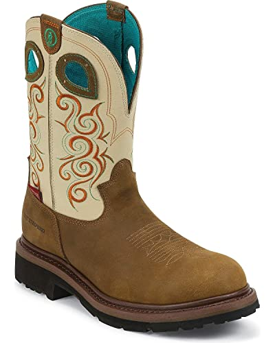 c66de00b4c1 Amazon.com | Tony Lama Women's Crazy Horse 3R Safety Boots - Ivory ...