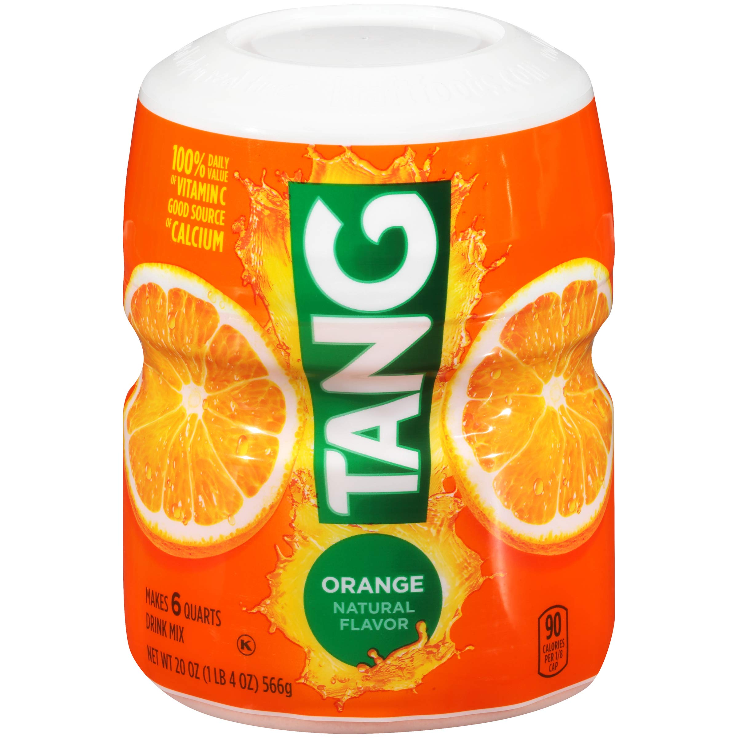 Tang Orange Powdered Drink Mix, Makes 6 Quarts (20oz Canister, Pack of 6)