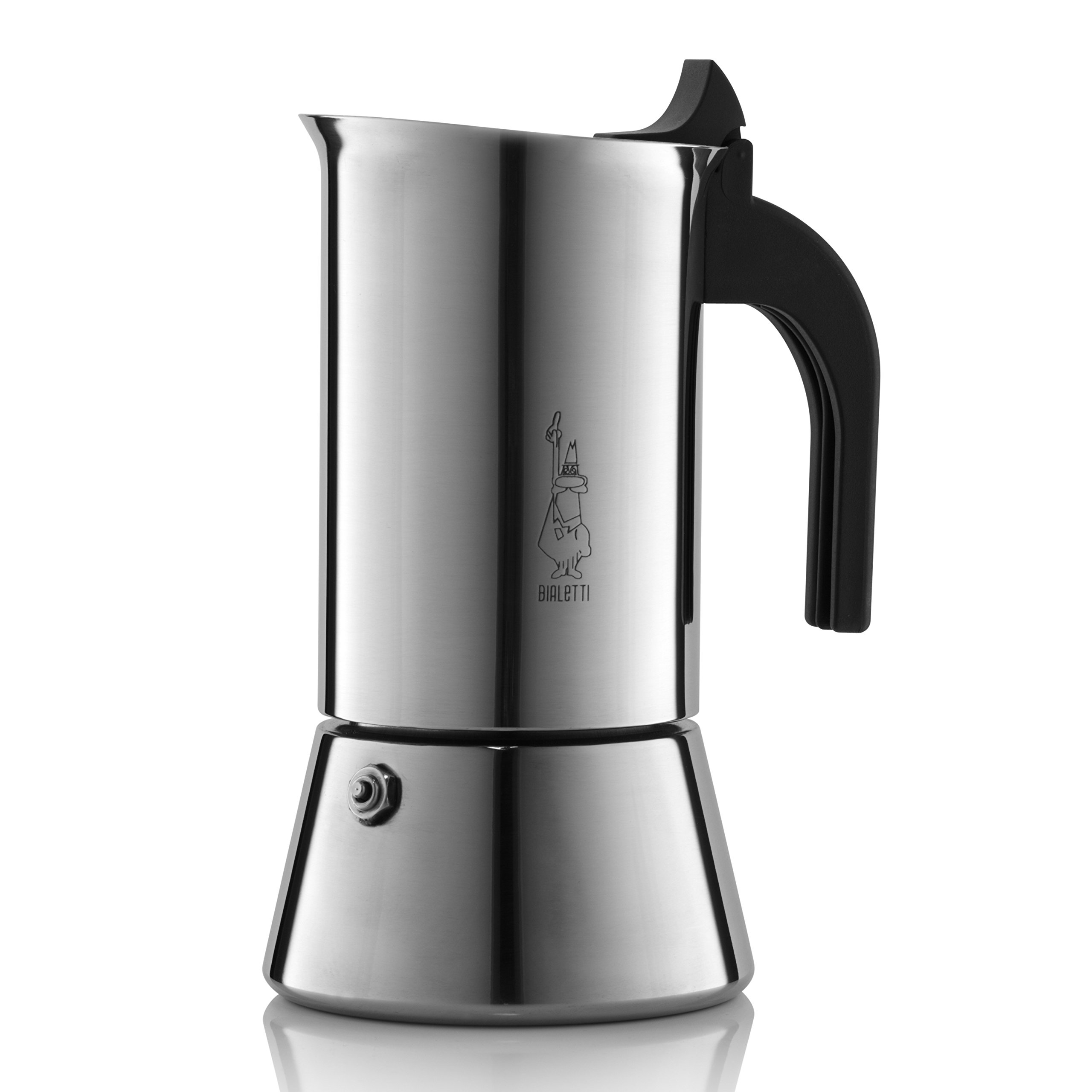 Venus Induction Capable Espresso Coffee Maker, Stainless Steel, 6 cup
