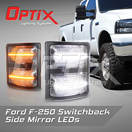 Optix   Ford F  Clear Led Side Mirror Lights F Led