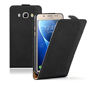 separation shoes 77baf 252a9 Membrane Case compatible with Samsung Galaxy J5 2016 / J5 2016 Duos - Black  PU Leather Flip Cover Ultra Slim
