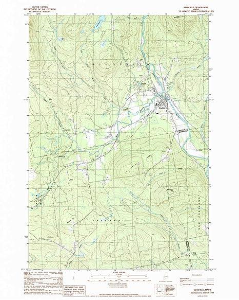 Kingfield Maine Map.Amazon Com Yellowmaps Kingfield Me Topo Map 1 24000 Scale 7 5 X
