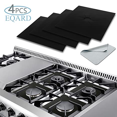 Stove Burner Covers, EQARD Gas Range Protectors Stove Protector 0.2MM  Double Thickness,