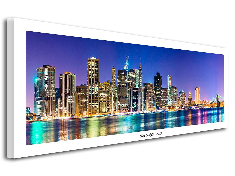 Declina Tableau imprim/é,/ Tableau Toile panoramique New York 80x30 cm Tableau D/éco D/écoration Murale Salon