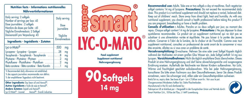 Supersmart MrSmart - Próstata, antioxidantes, Salud masculina - Lyc-O-Mato® - Aporte potente y económico de este nutriente esencial.