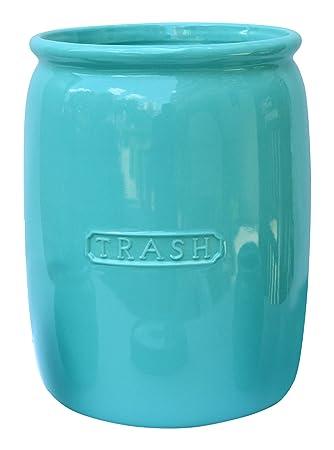 BathSense MJ1002T Ceramic Bathroom Wastebasket U0026 Trash Can Refuse Disposal  Bin, Vintage