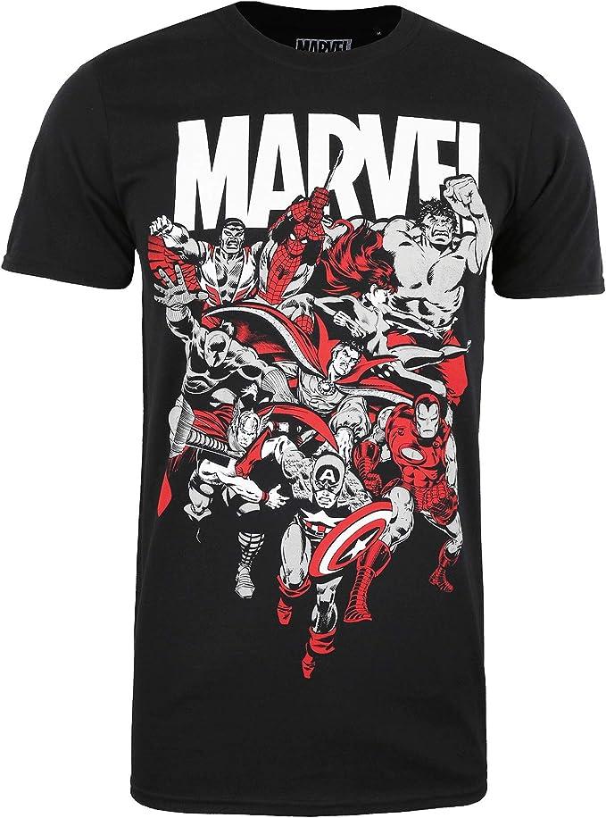 Marvel Avengers Alliance Camiseta para Hombre: Amazon.es: Ropa y accesorios