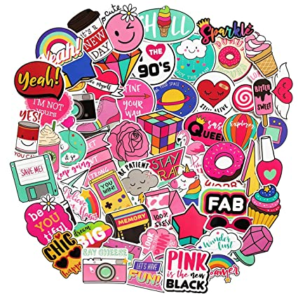 Cut Girls Stickers For Water Bottles60pack Cute Waterproof Aesthetic Trendy Stickers For Teens Girls Perfect For Waterbottle Laptop Phone Travel