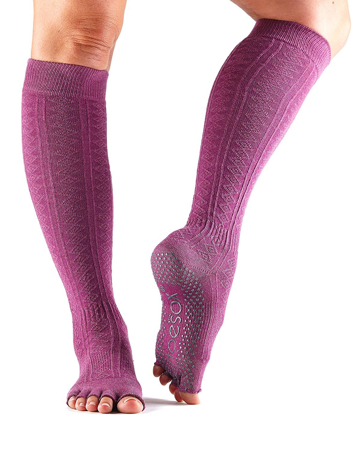 ToeSox Grip Pilates Barre Socks - Non Slip Scrunch Half Toe for Yoga & Ballet