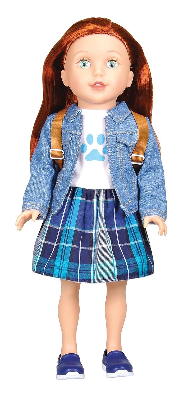 Bumbleberry Girls Cassidy Girl Doll, Red Hair, 15' 15 DE103 15006