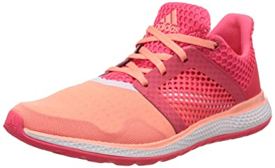 adidas Women\u0027s Energy Bounce 2 W Pink and Orange Mesh Running Shoes ...