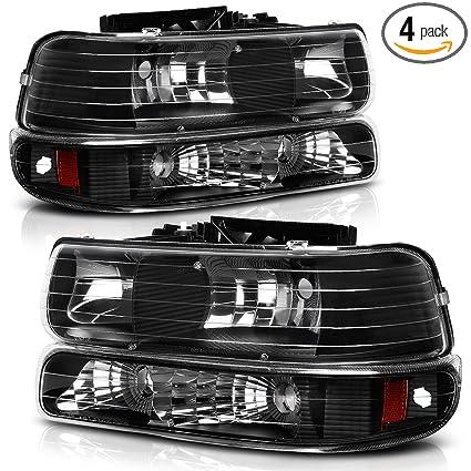 Headlight Assembly For 1999 2002 Chevy Silverado 1500 2500 2001 1500HD