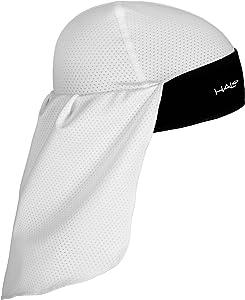 Halo Headband Solar Sun-Protective Skull Cap & Tail, White