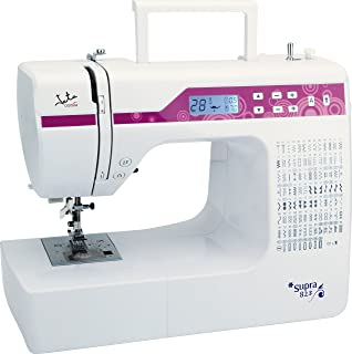 Jata MC823 Máquina de Coser electrónica con 200 diseños de Puntadas, PVC, Blanco con Detalles en…