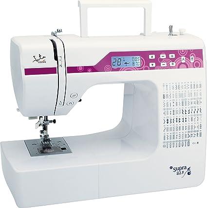 Jata MC823 - Máquina de Coser electrónica con 200 diseños de Puntadas PVC, Blanco con