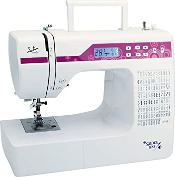 Jata MC823 Máquina de Coser electrónica con 200 diseños de Puntadas, PVC, Blanco con Detalles en Rosa, MC823-Máquina: Amazon.es: Hogar