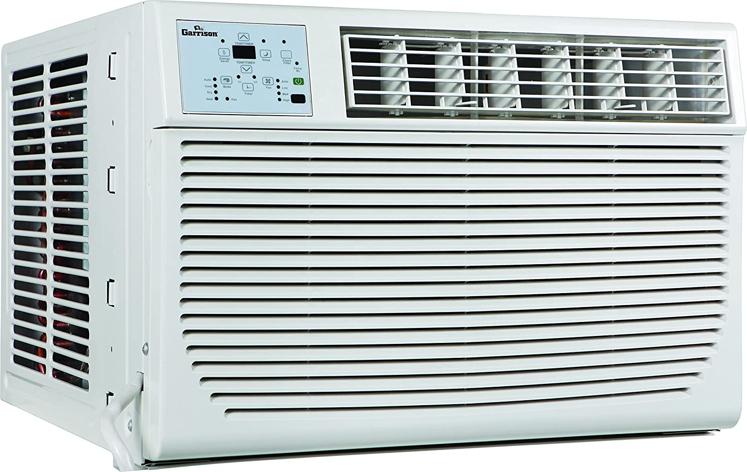 Garrison 2477802 R-410A Through-The-Window Heat Cool Air Conditioner with Remote Control, 12000 BTU, White