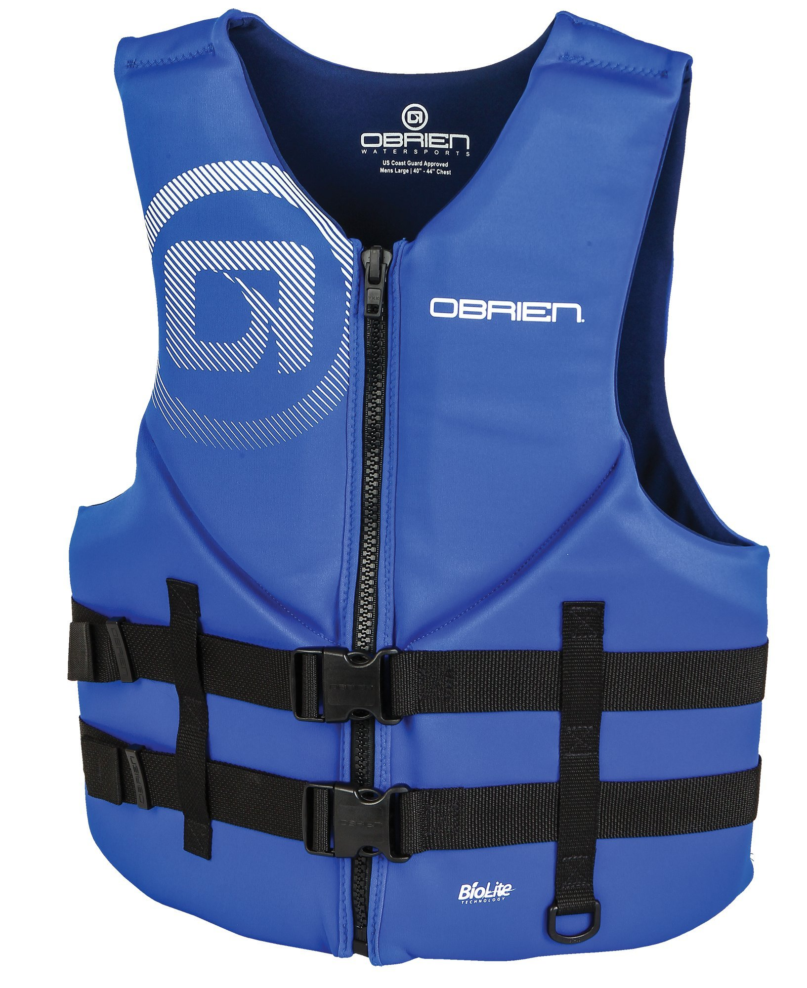 O'Brien Men's Traditional Neoprene Life Jacket, Blue, X-Small by O'Brien