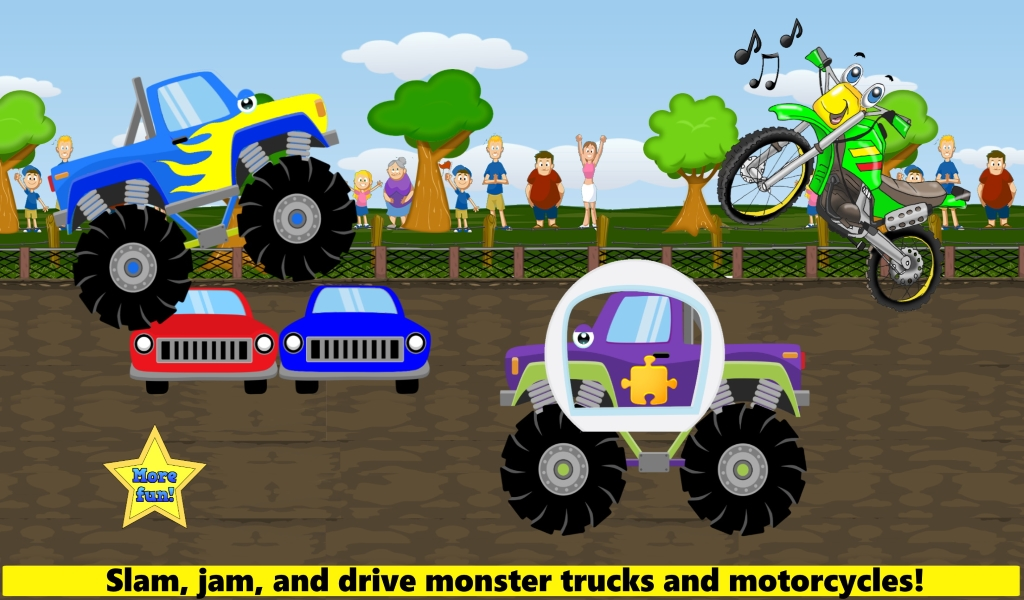 Amazon Com Monster Trucks Games For Kids Toddlers Ages 2 Full Version Appstore For Android