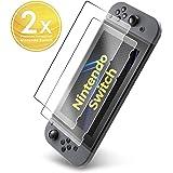 UTECTION 2X Vetro Temperato per Nintendo Switch - Pellicola Protettiva 9H - Antigraffio & Anti Urto - Senza bolle d'aria - Formato preciso - Protezione Schermo Trasparente
