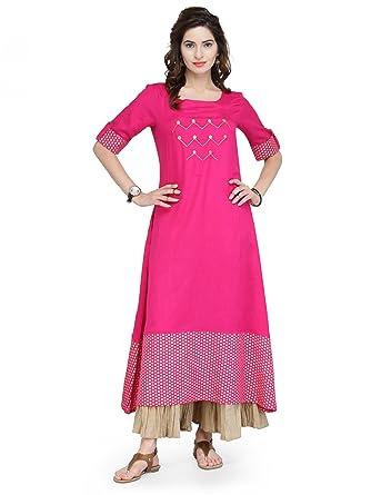 c02c40d079 Amazon.com: Manas Store Designer Kurta Kurti Indian Ethnic Party Wear Women Dress  Top Tunic Blouse: Clothing