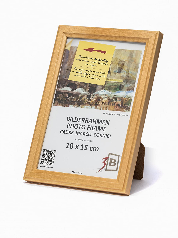 3-B Set 3 STK. - Bilderrahmen JENA - Natur - 10x15 cm - Holzrahmen ...