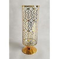 Vaso Decorativo Bella Tavola Dourado 12 X 35 Cm