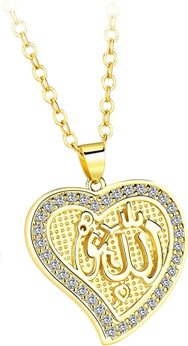 AMDXD Jewelry Gold Plated Womens Necklace Fashion Geometric Pendant Necklace