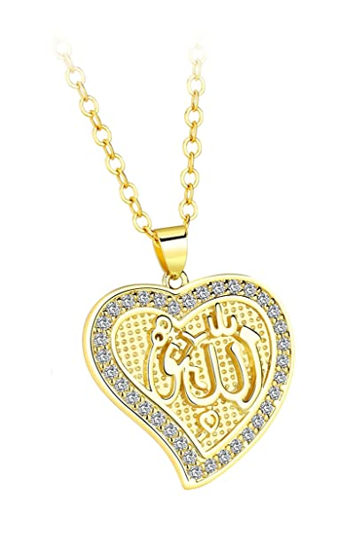 Amazon.com: AMDXD Jewelry 18k Gold Plated Pendant Necklaces for Women Heart Shape Cubic Zirconia Gold Pendant: Jewelry