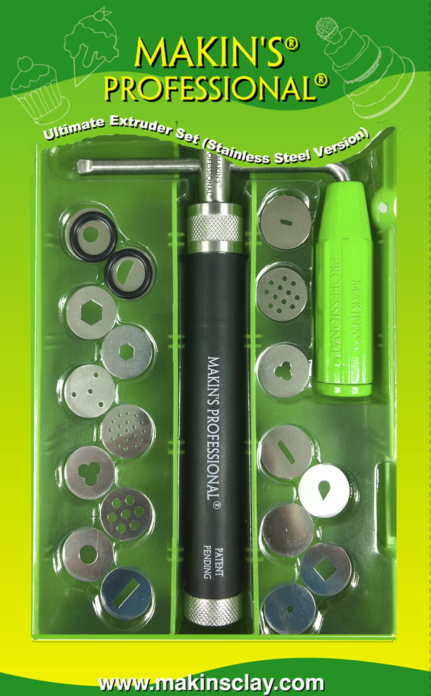 Makin's USA 21-Piece Ultimate Extruder Set, Stainless Steel