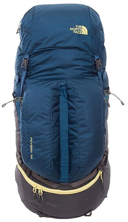 North Face Fovero 70 - Mochila, Color Azul/Amarillo, Talla LXL