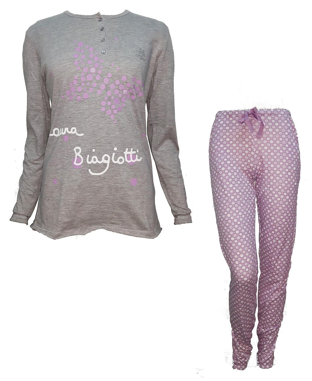 pigiama donna lungo serafino cotone LAURA BIAGIOTTI art. 96045 nuova collezione
