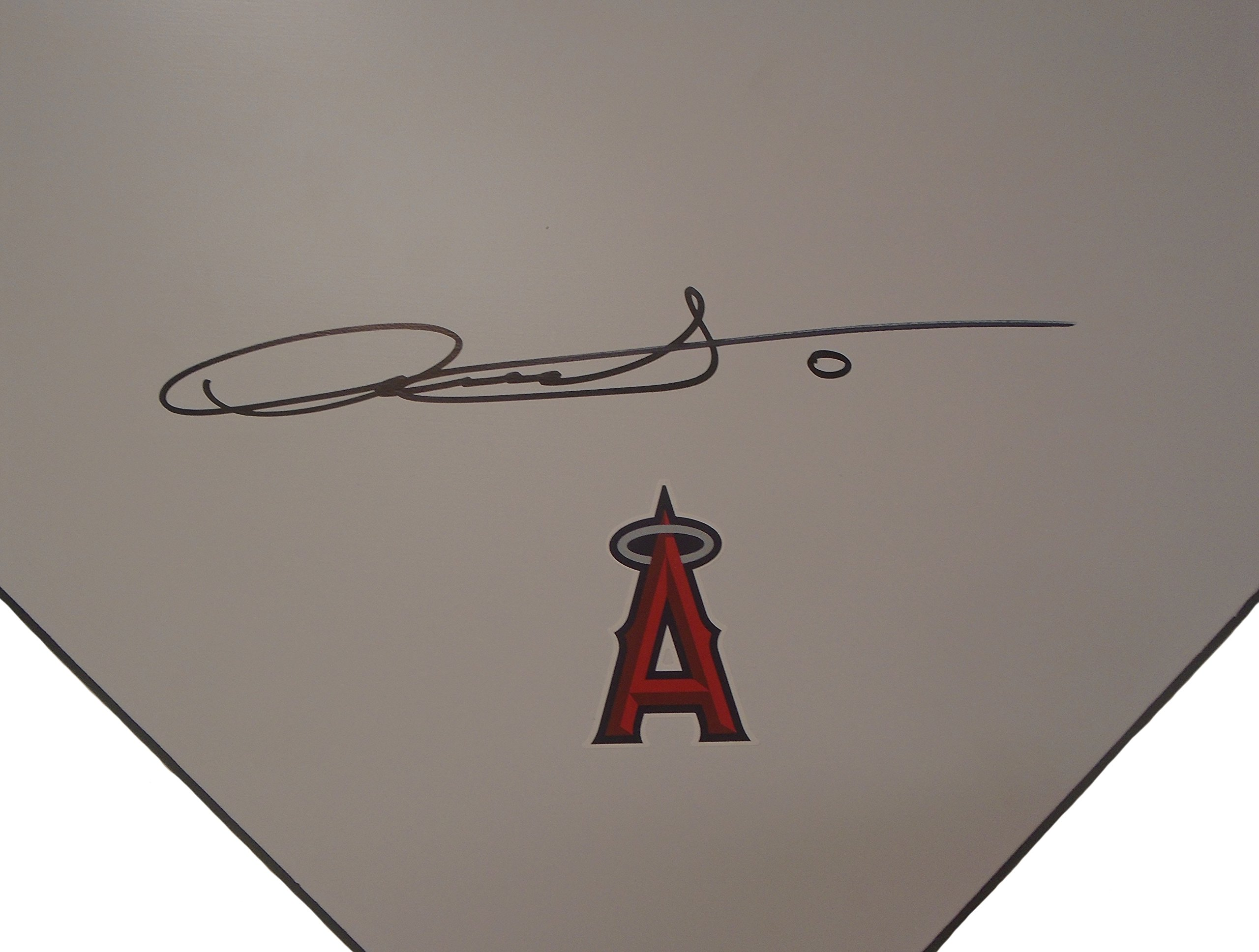 Los Angeles Angels Yunel Escobar Autographed Hand Signed LA Angels Baseball Home Plate Base with Proof Photo of Signing and COA