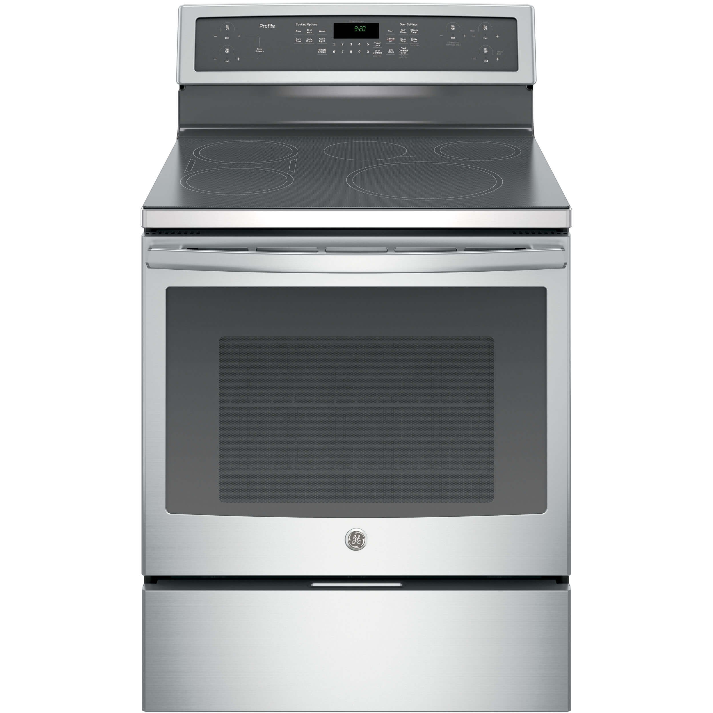 GE PHB920SJSS Stainless Steel Electric Induction Range product image