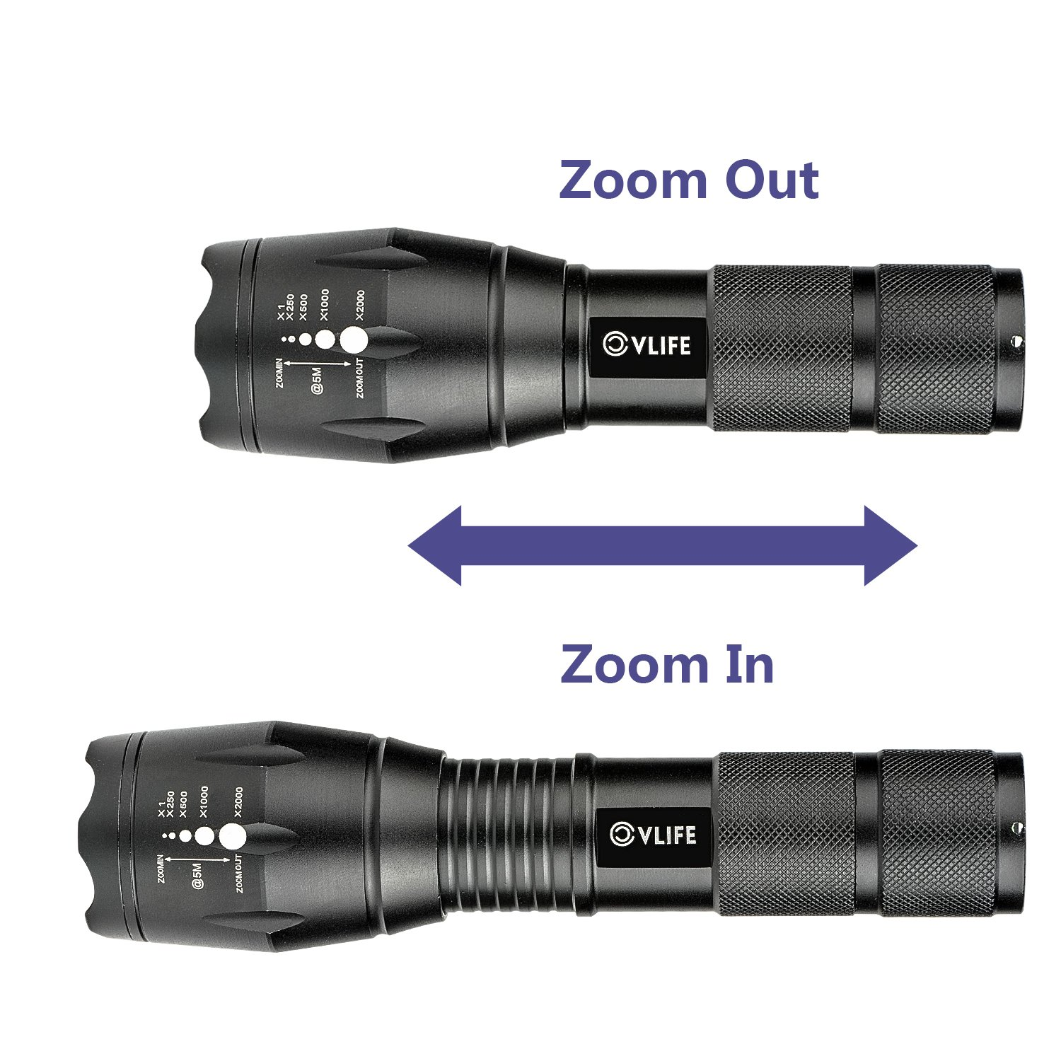 CVLIFE Tactical Flashlight Rechargeable XML T6 LED Torch Light With 18650 Battery & Charger