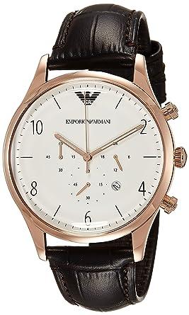 Emporio Armani Mens AR1916 Dress Black Leather Watch