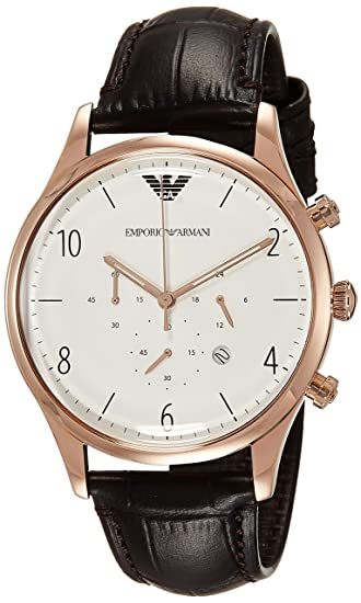 Amazon.com: Emporio Armani Mens AR1916 Dress Black Leather Watch: Watches