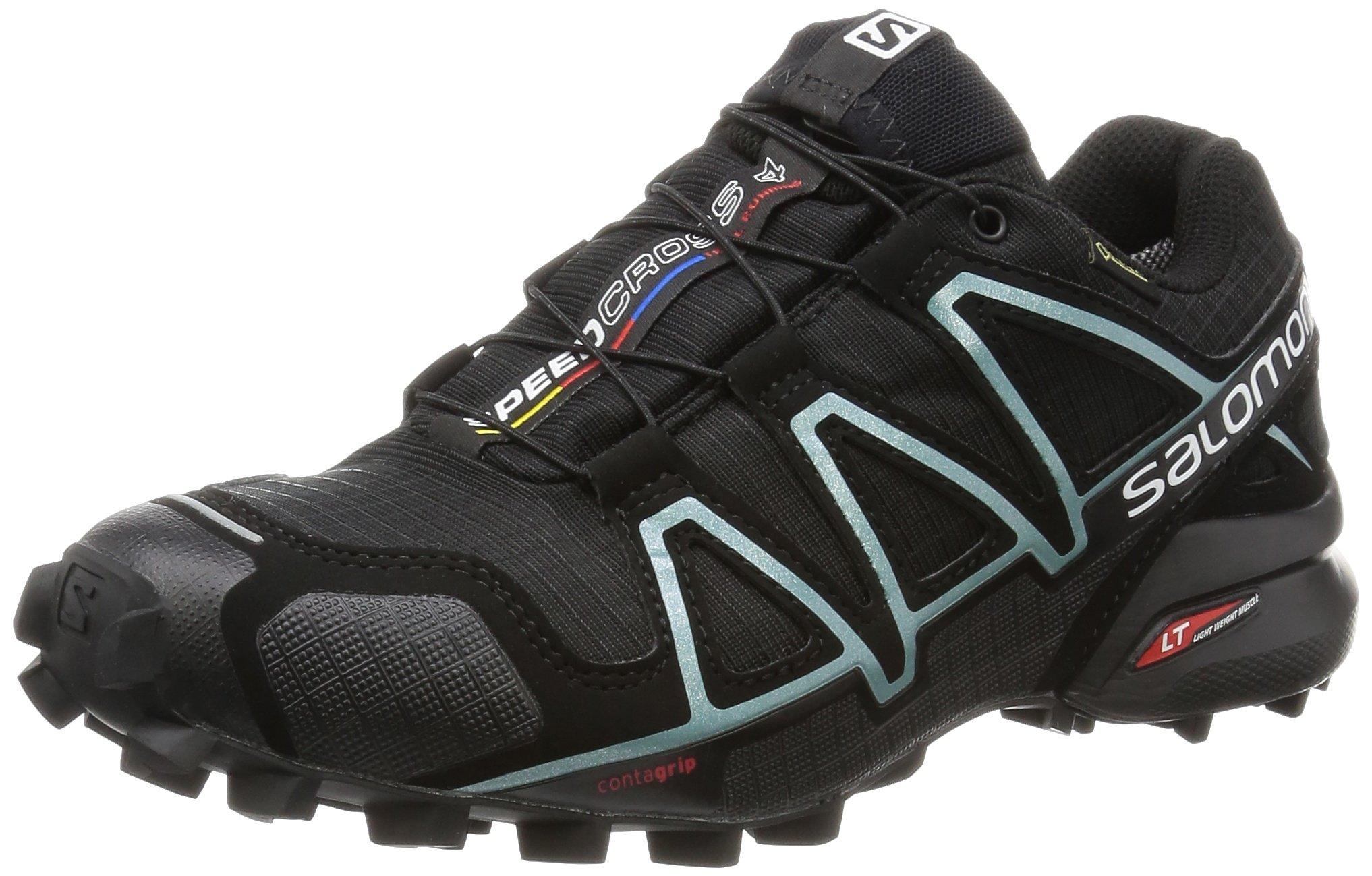 Salomon Women's SPEEDCROSS 4 GTX W Athletic Shoe, black, 8 M US