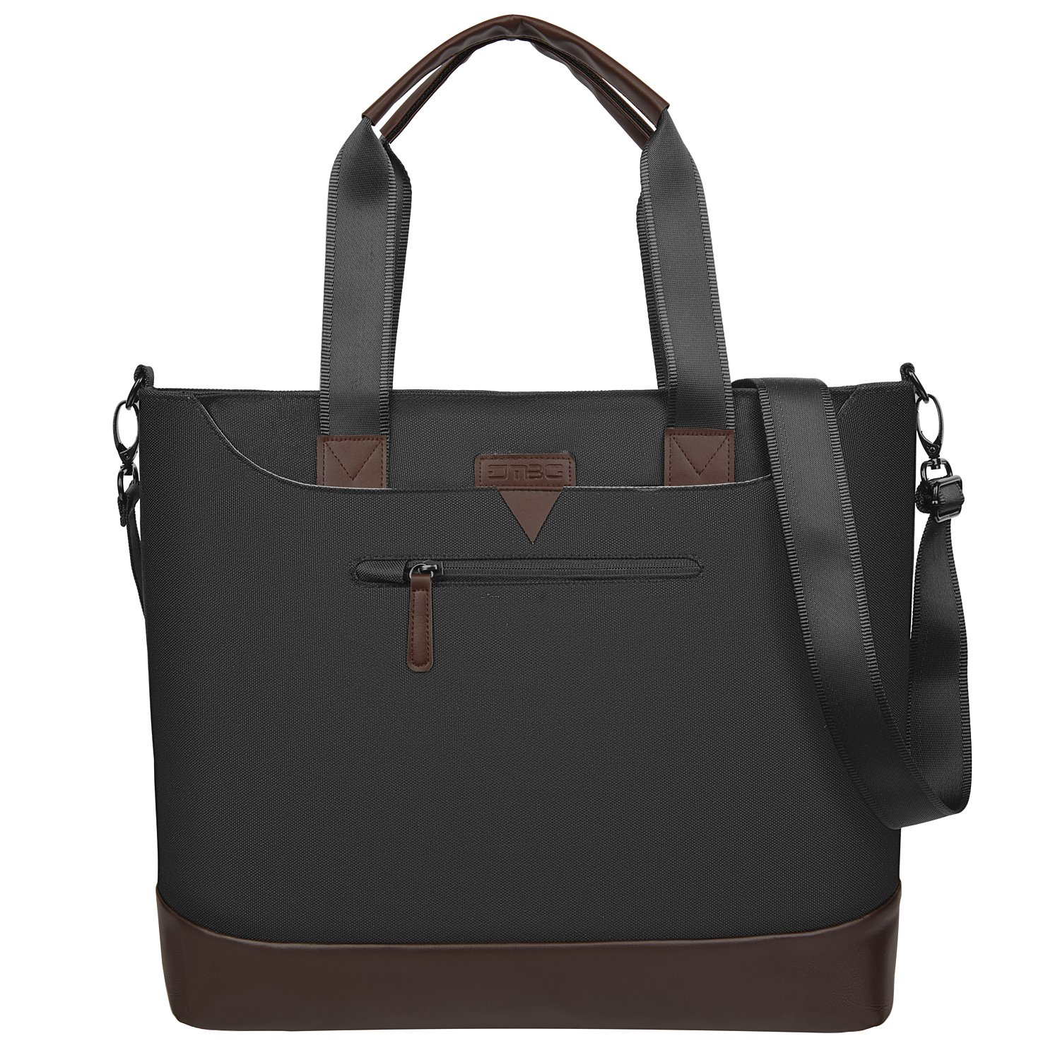 Ladies Laptop Tote Bag,DTBG Stylish Large Womens Business Laptop Shoulder Bag Work Tote Purse Office Messenger Briefcase Travel Shopping Handbag with Strap for Up to 15.6 Inch Laptop Computer,Black