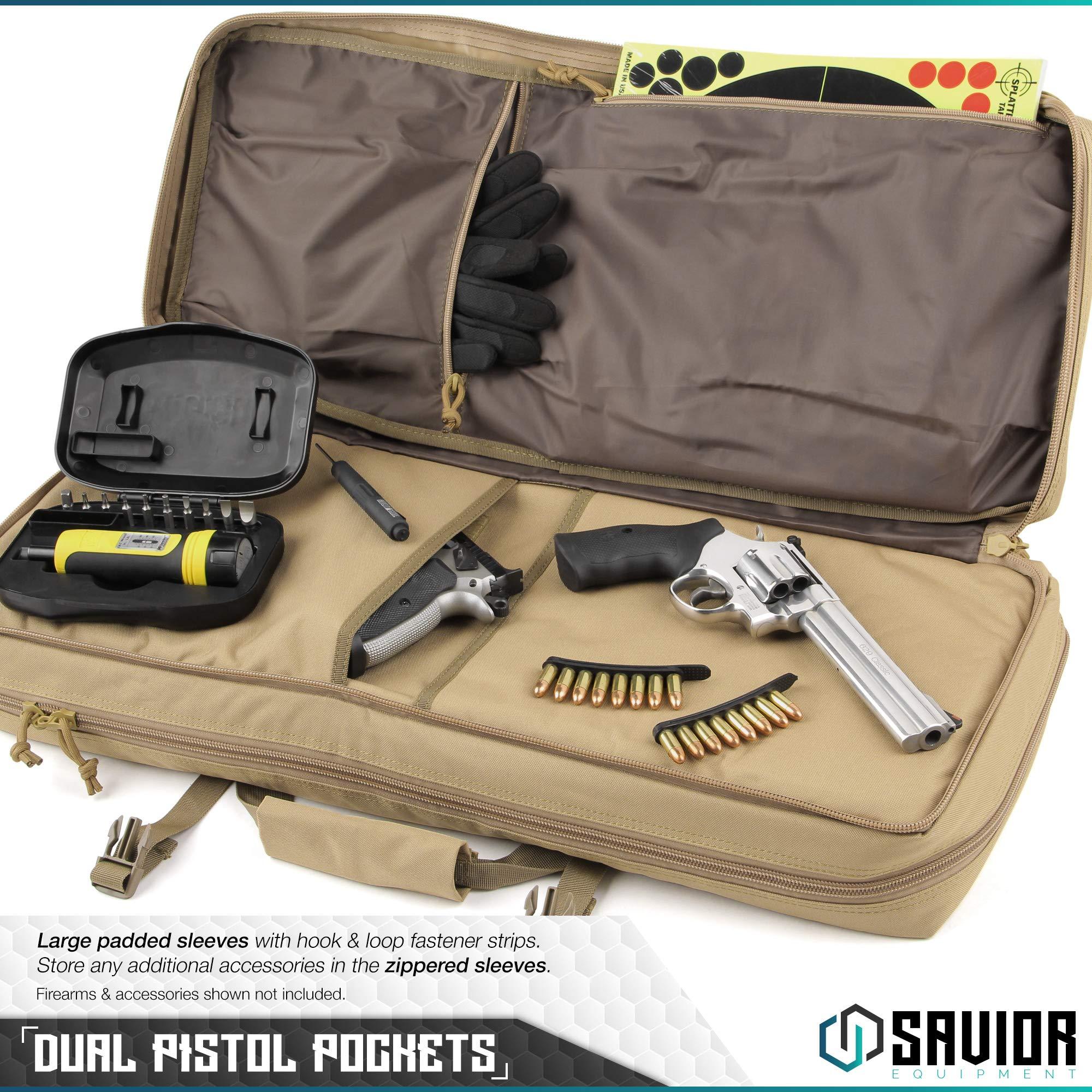 Savior Equipment American Classic Tactical Double Short Barrel Rifle Gun Case Firearm Bag - Suitable for Subgun Bullpups Carbine Shotgun SMG SBR AR AK Pistol, Available Length in 24'' 28'' 32'' by Savior Equipment (Image #4)