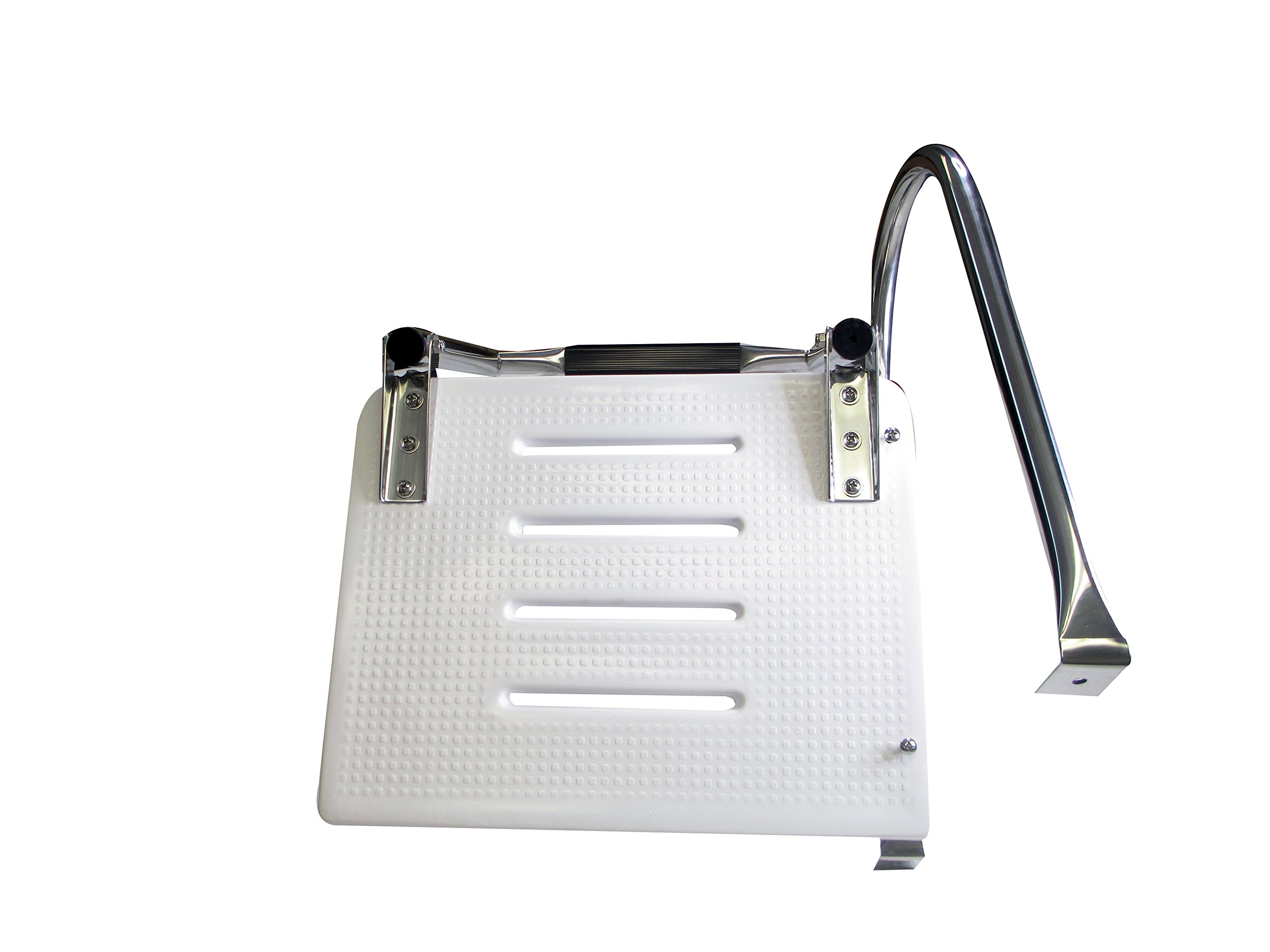 Pactrade Marine Boat Universal Swim Over Platform Mount Telescopic Ladder, 3 Step in/Outboard One Rail