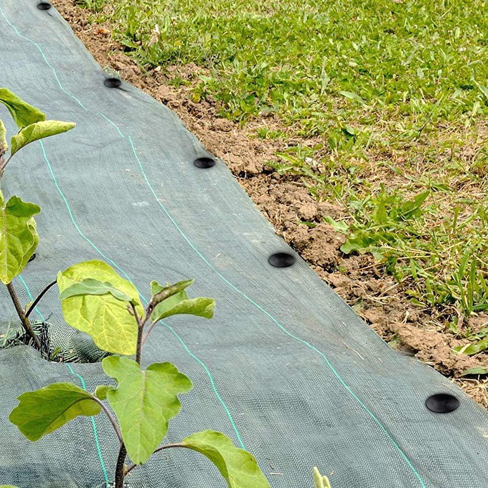 Lanilianhuqa Lot de 100 piquets dancrage en plastique pour jardin