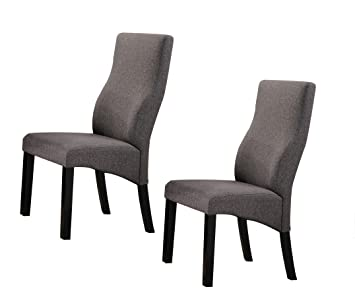 Amazoncom Kings Brand Cappuccinogrey Upholstered Parsons Dining