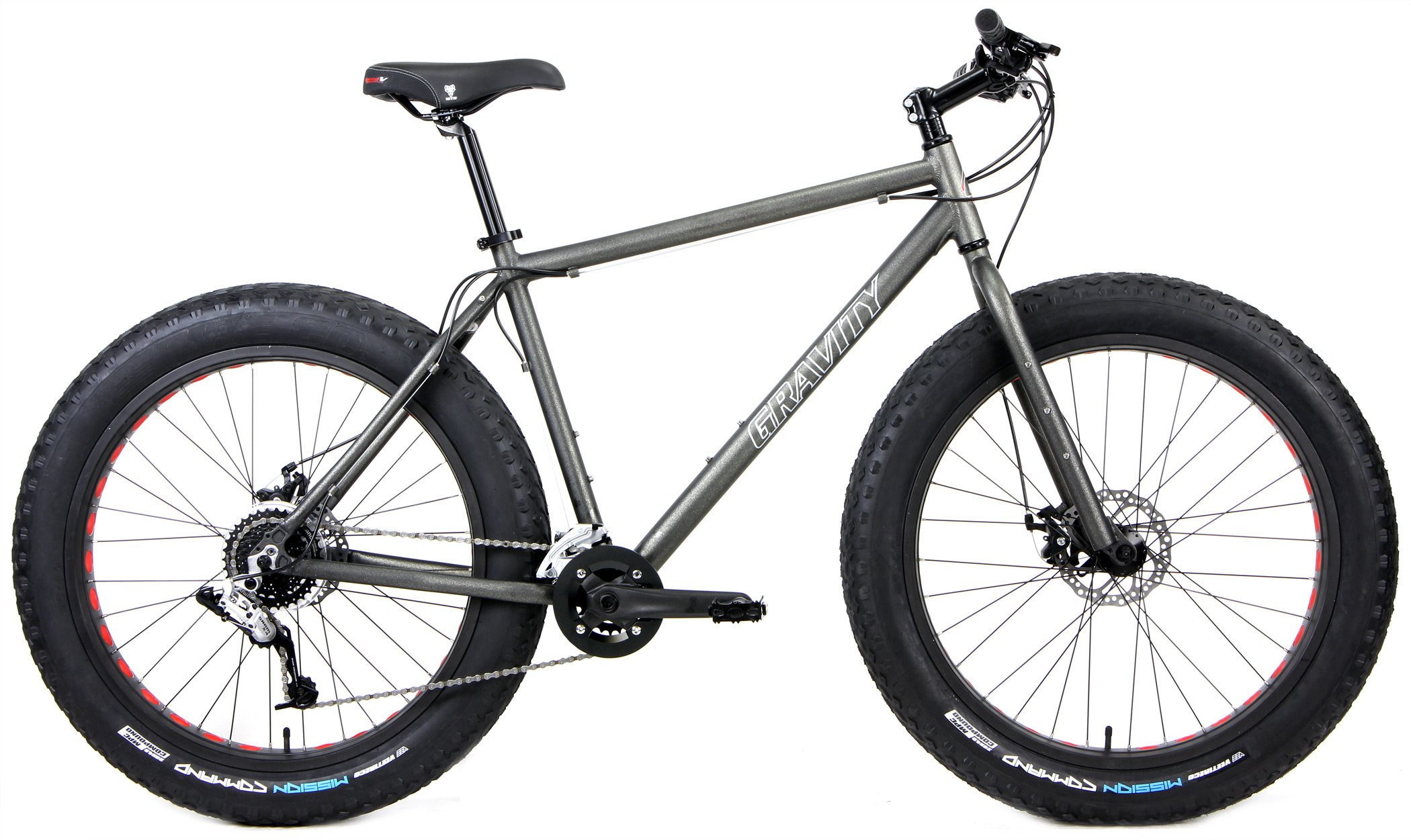 50ff2f45d52 Aluminum Fat Bikes with Powerful Disc Brakes Gravity Monster Mens Fat Tire  Bicycle 26