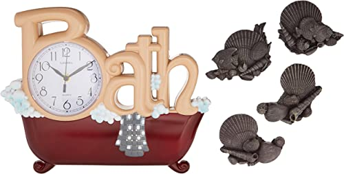 New Haven Bath Clock with Four Shells